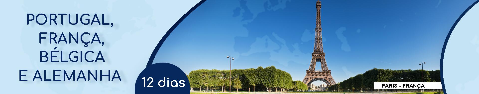 Roteiro de 20/11 – PORTUGAL, FRANÇA, BÉLGICA e ALEMANHA – 12 dias – Pe. Clayton
